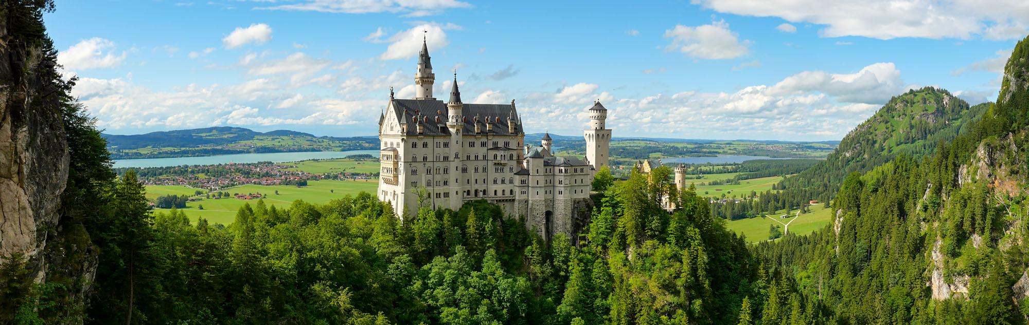 Visite el castillo de Neuschwanstein, Baviera, Alemania