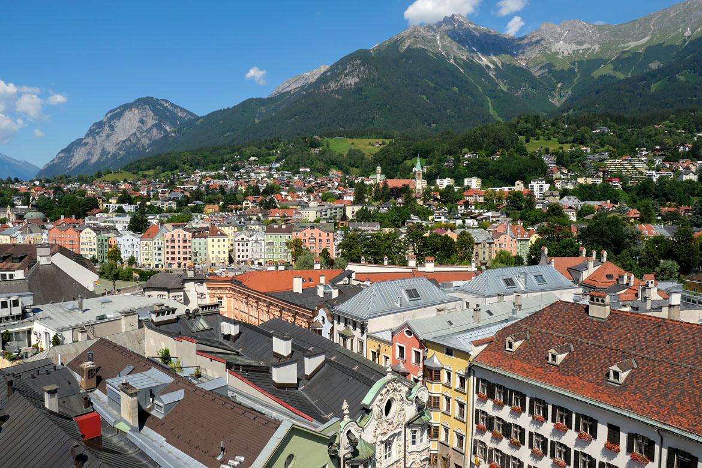 Vistas de Innsbruck Austria desde la Stadtturm