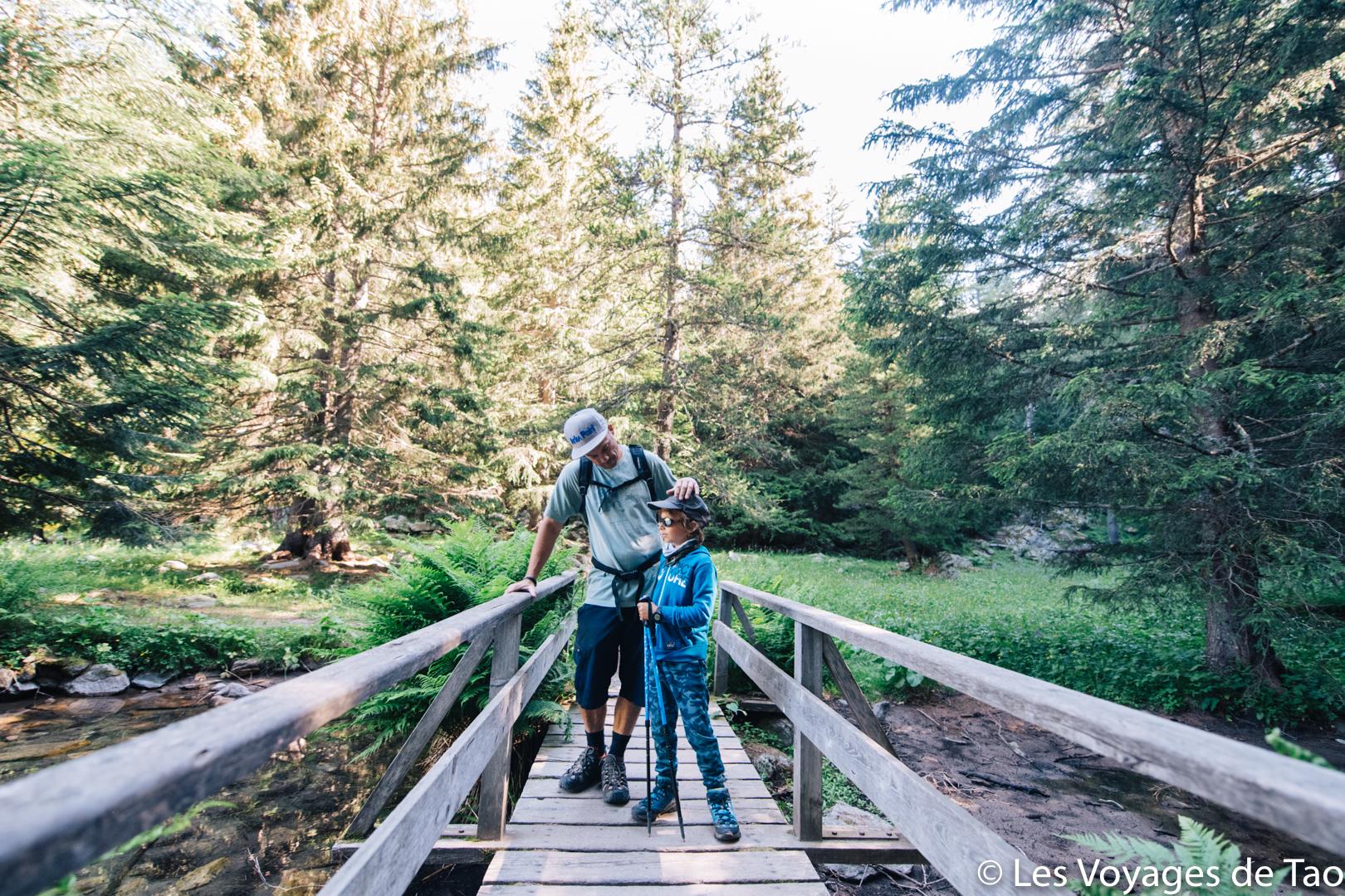 Lago Trecolpas en familia