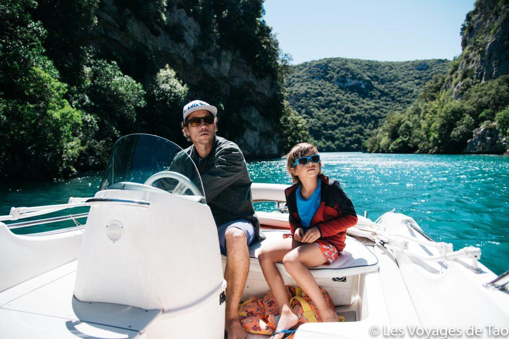 Lago Esparron con la familia