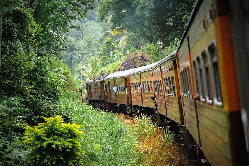 Viajar en tren a Sri Lanka
