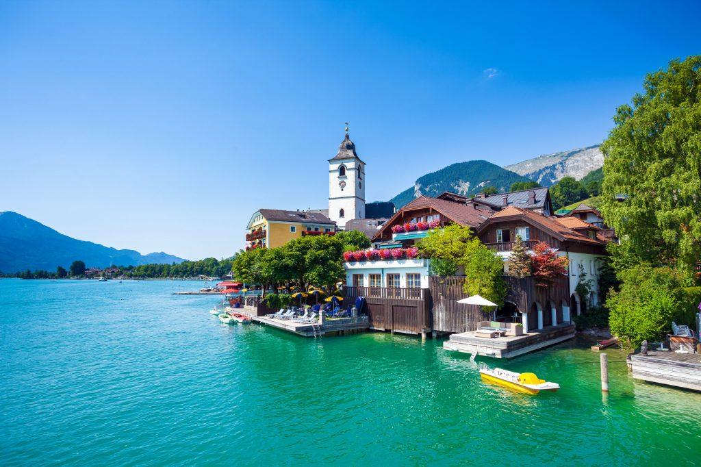 Paisajes del lago Wolfgang de Austria