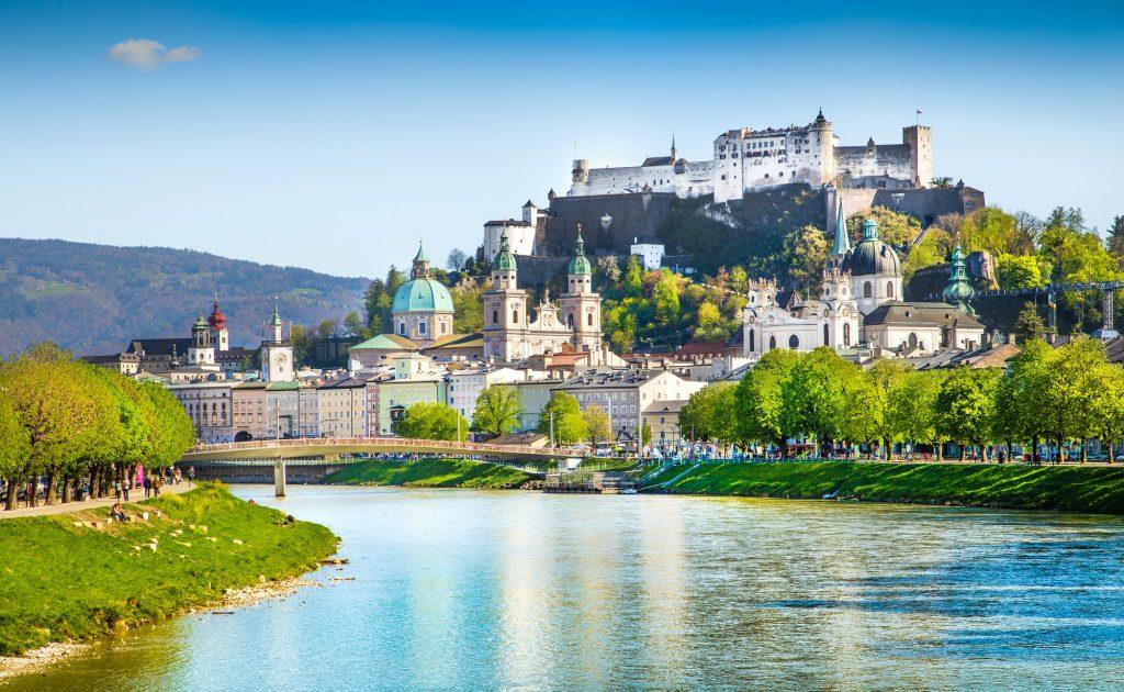 Paisajes de Salzburgo de Austria