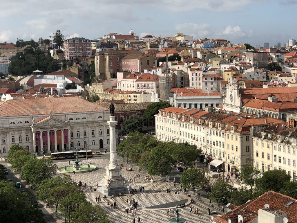 Plaza Rossio, Lisboa