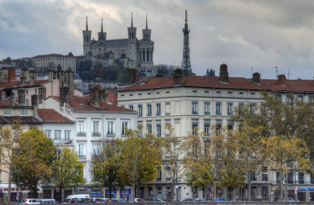 Lyon, vista panorámica de la Basílica de Notre-Dame de Fourvière