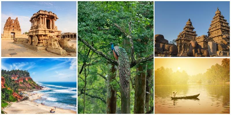 10 mejores lugares en el sur de la India: planifique unas vacaciones perfectas