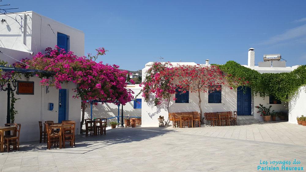 Lefkes en la isla de Paros