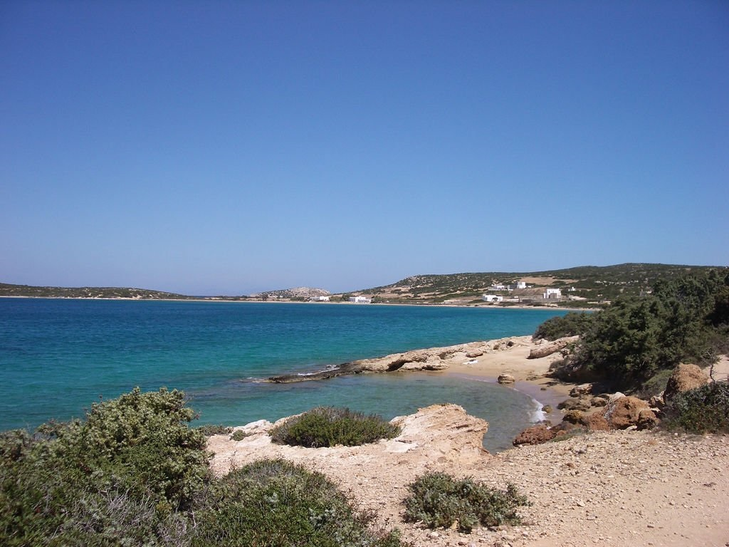 Playa Lageri en Paros