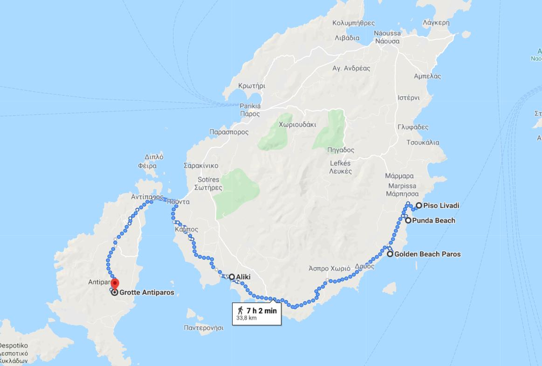 Itinerario número 2 para su estancia en Paros