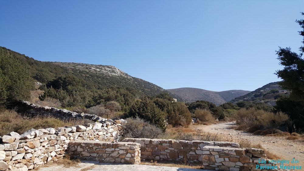 Las antiguas canteras de mármol de Paros