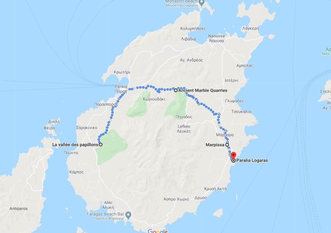 Itinerario número 3 para su estancia en Paros