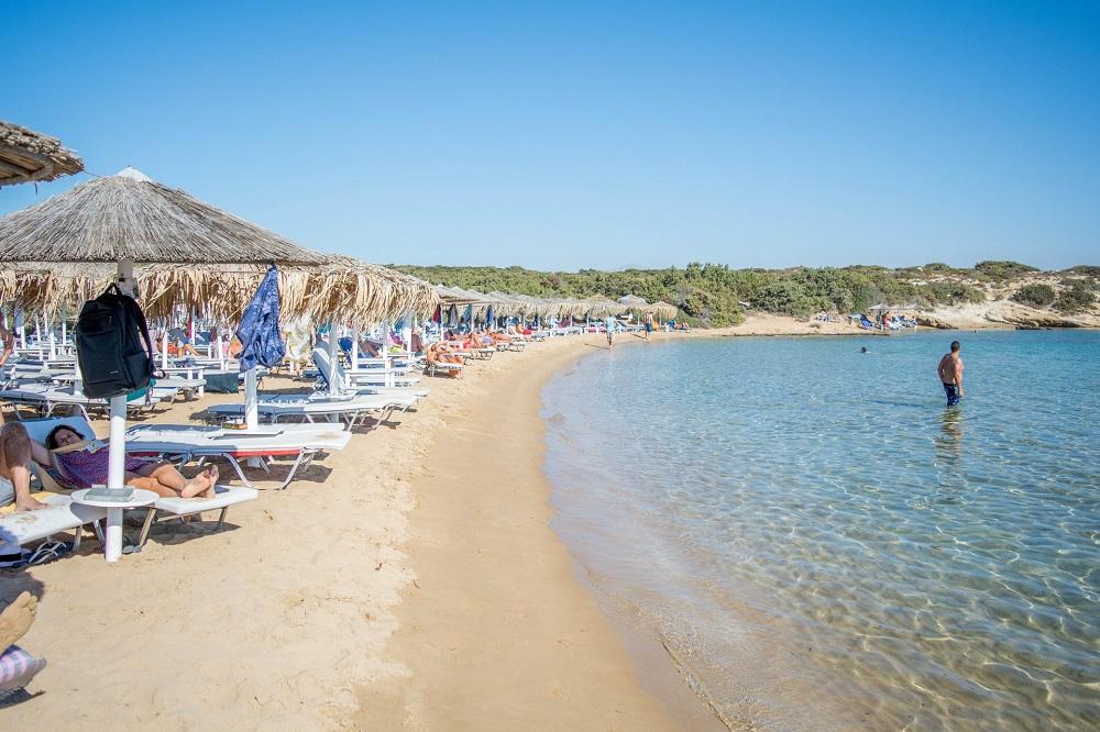 Playa de Santa María en Paros