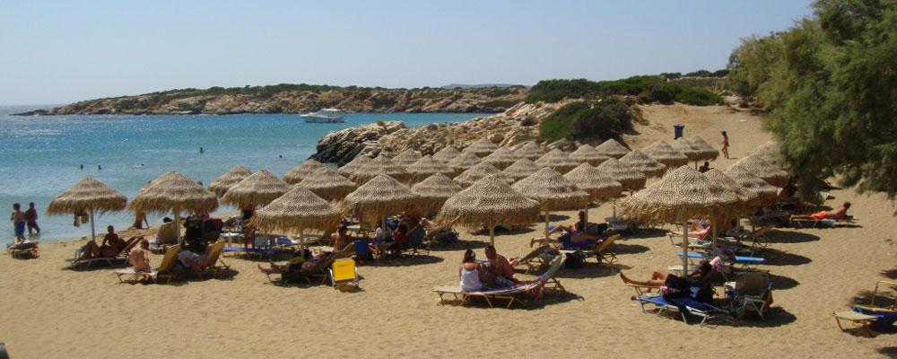Playa de Faragas en Paros