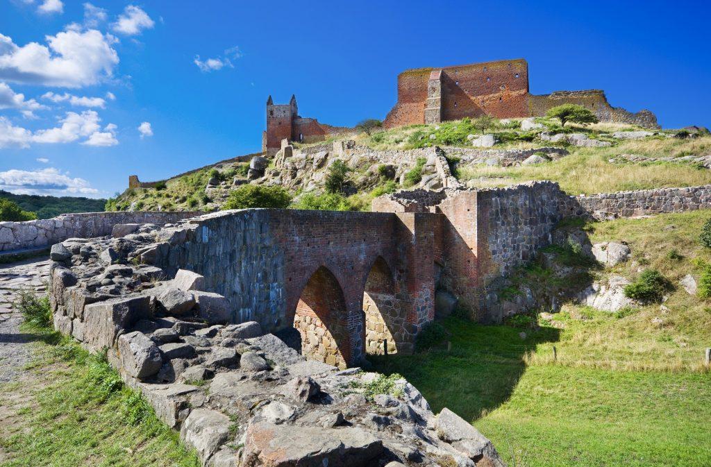 Castillo de Hammershus en Dinamarca