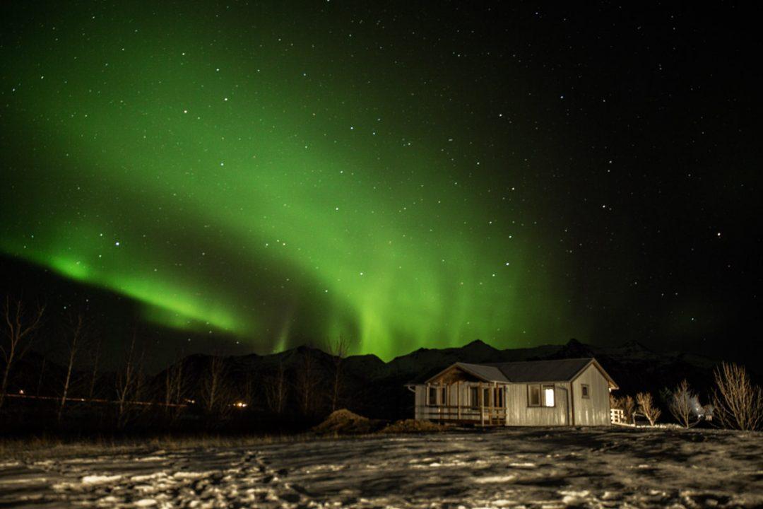A la caza de la aurora boreal en Islandia