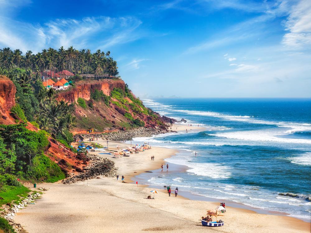 Los mejores lugares del sur de la India: Varkala, Kerala