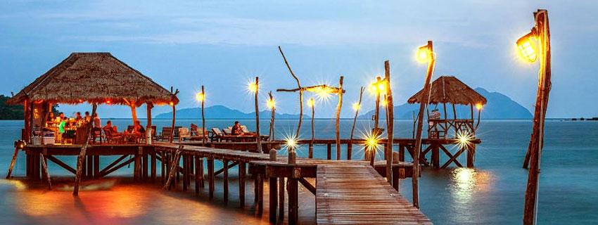 Almuerzo en una isla de Tailandia