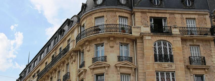 Un edificio en la ciudad de Dijon.