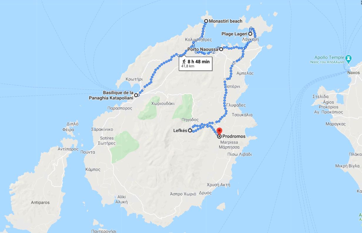 Itinerario número 1 para su estancia en Paros