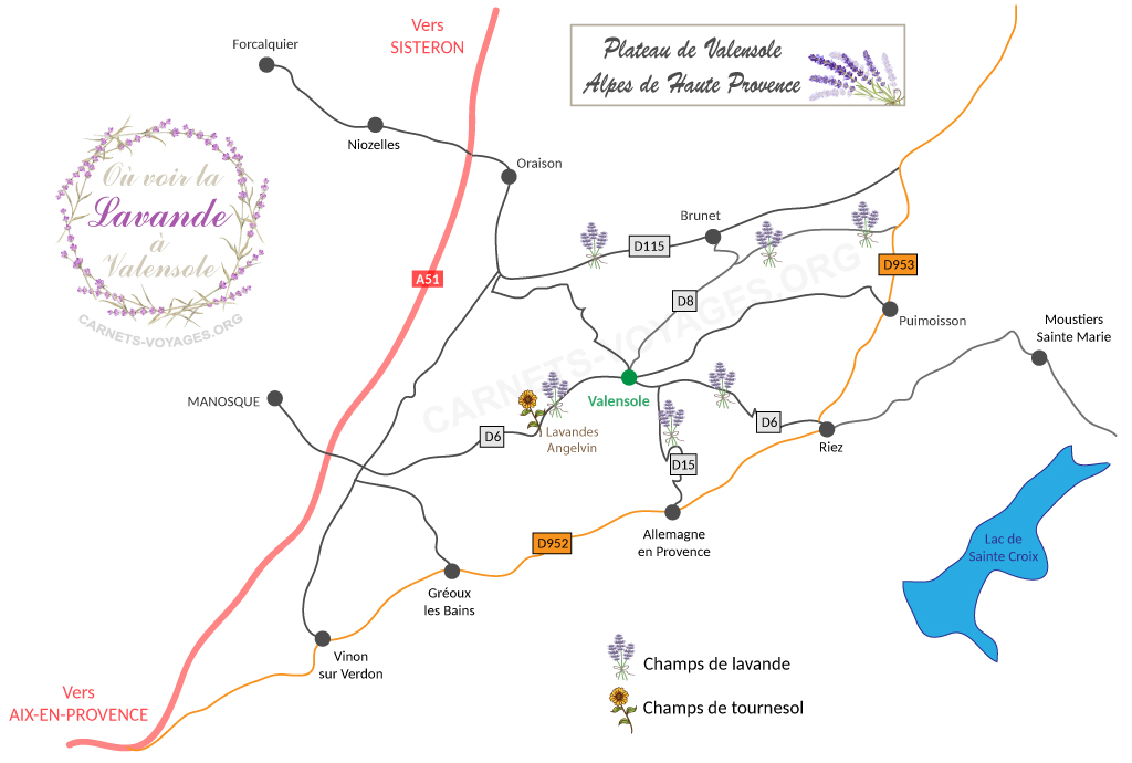 Tarjeta de lavanda Valensole Provence