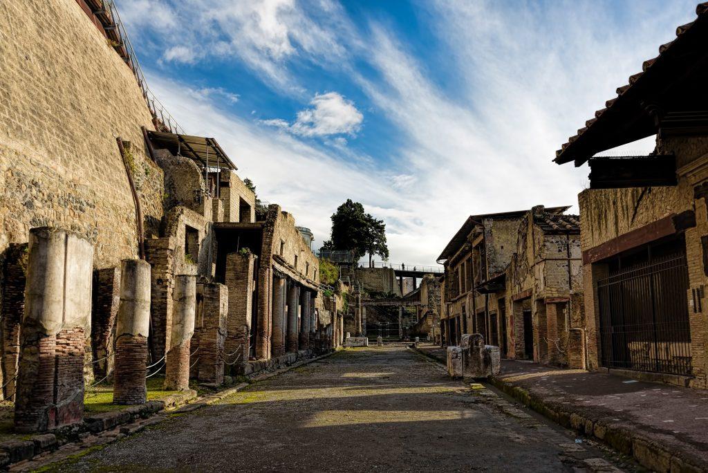 las ruinas de Herculano