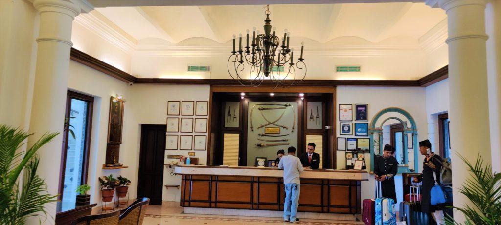 Recepción del Hotel Jehan Numa Palace