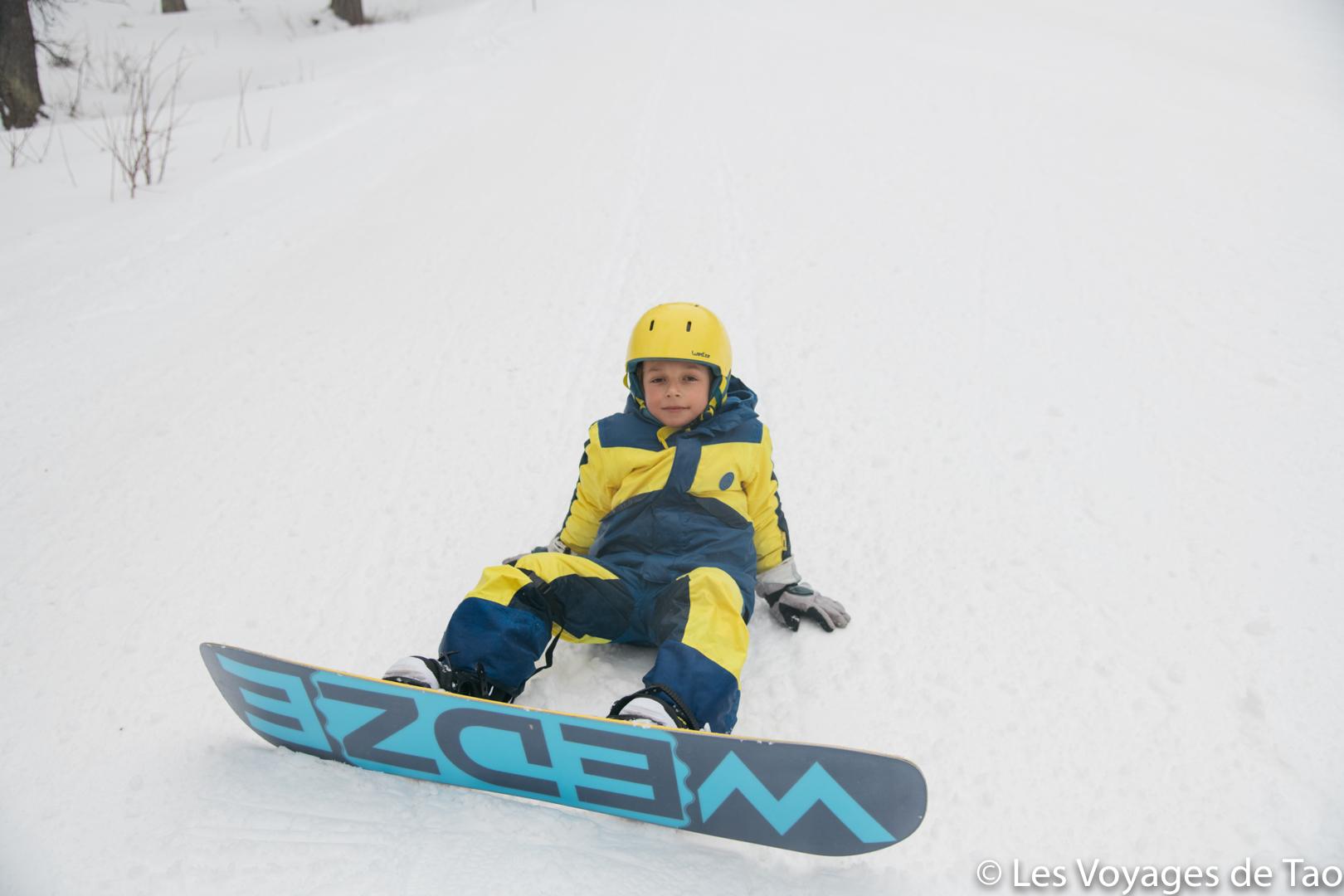 Decathlon de snowboard para niños