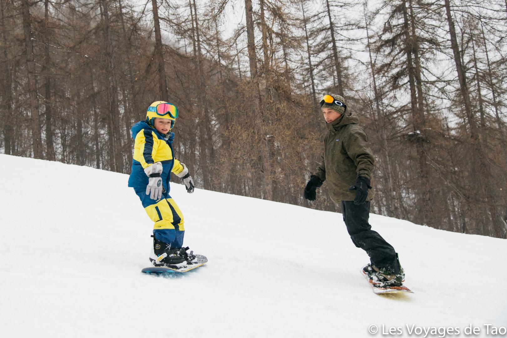 Empezando por el snowboard para niños