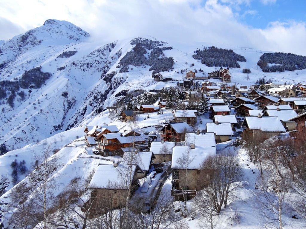 Estación de esquí en los Alpes