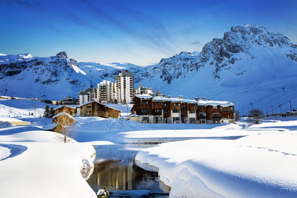 Tignes en los Alpes