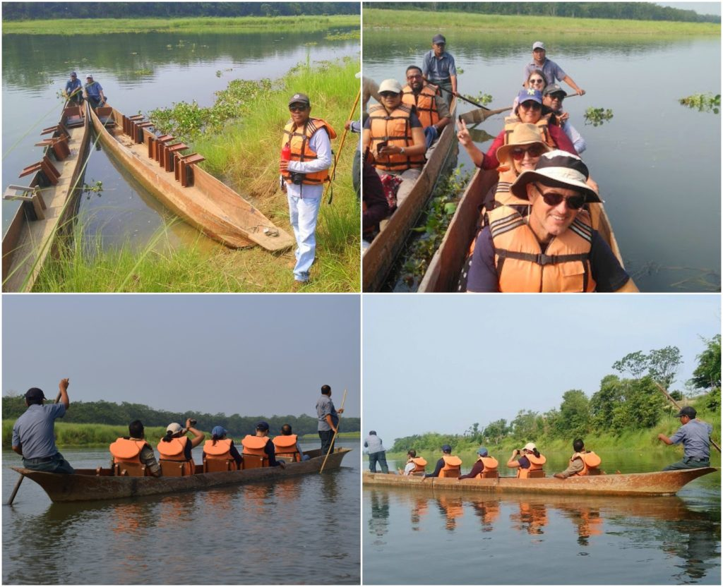 Paseo en canoa en Chitwan