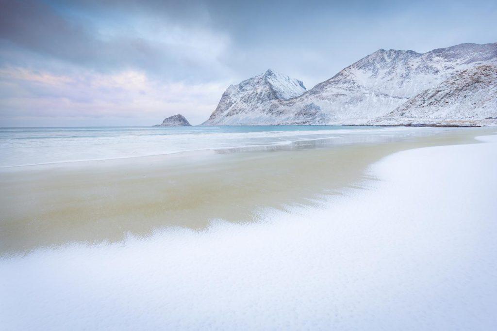 Laponia invierno noruega The Shore beach