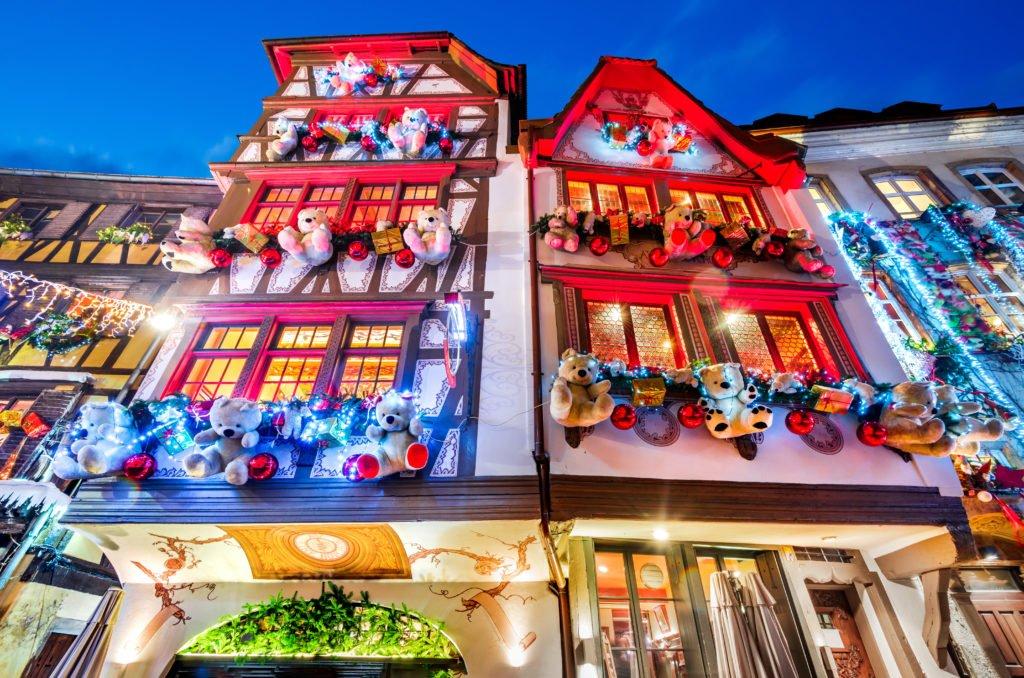 Adornos navideños en Estrasburgo