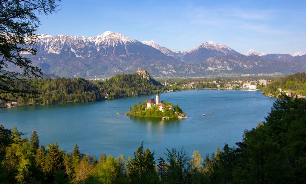 Visita el lago Bled en Eslovenia