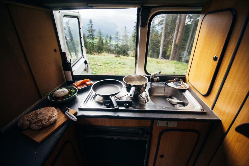 diseño interior de la furgoneta