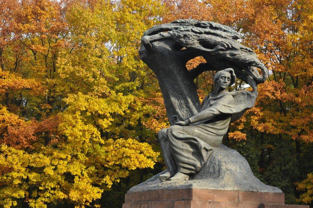 Estatua de Chopin en Varsovia