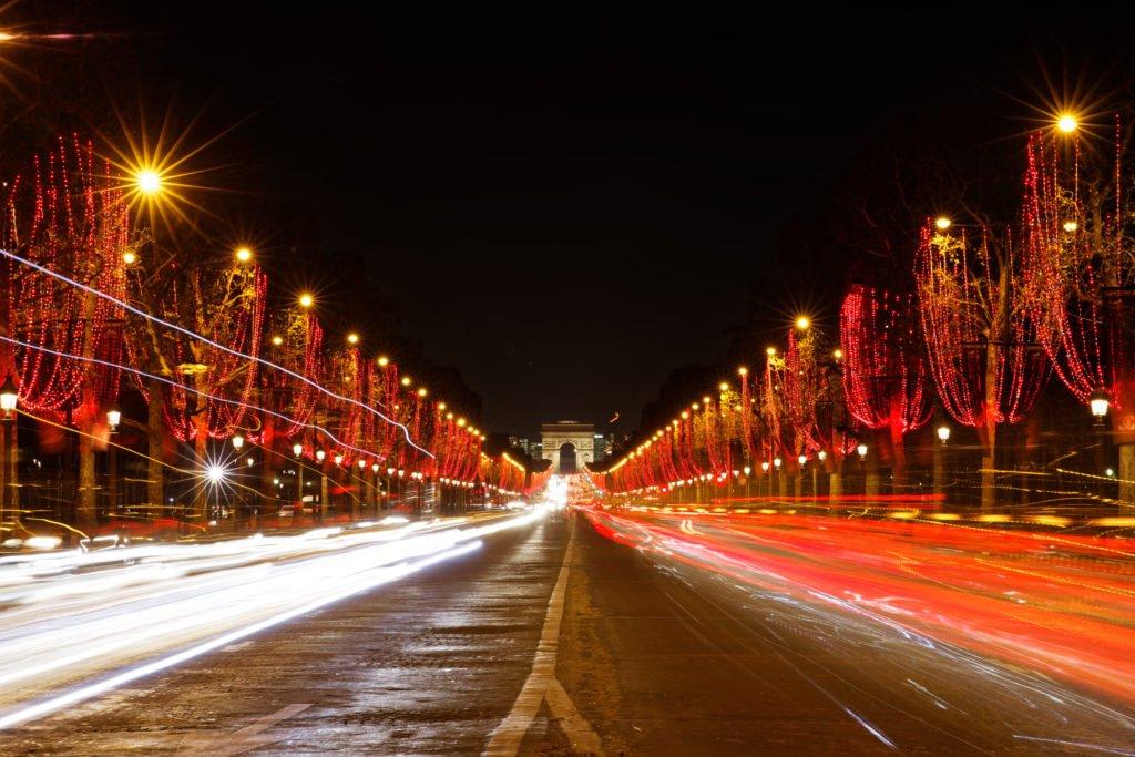 Luces de Navidad en París