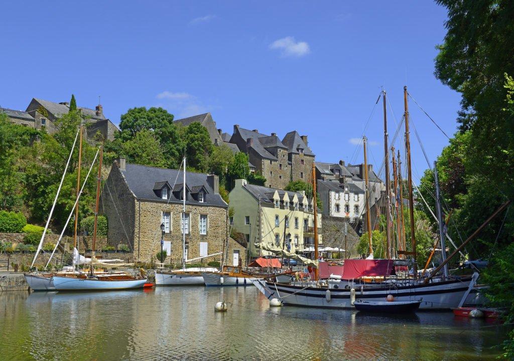 Pueblo de La Roche-Bernard en Bretaña