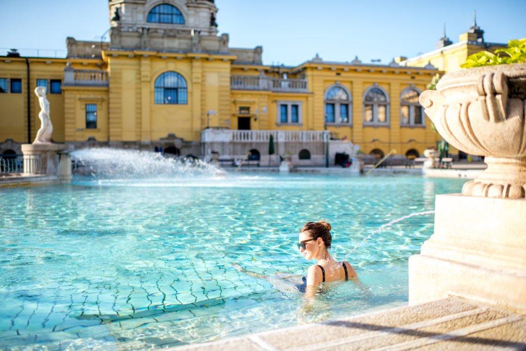 los baños termales de Budapest