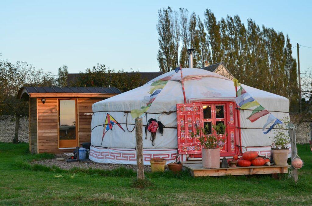 una yurta en Normandía