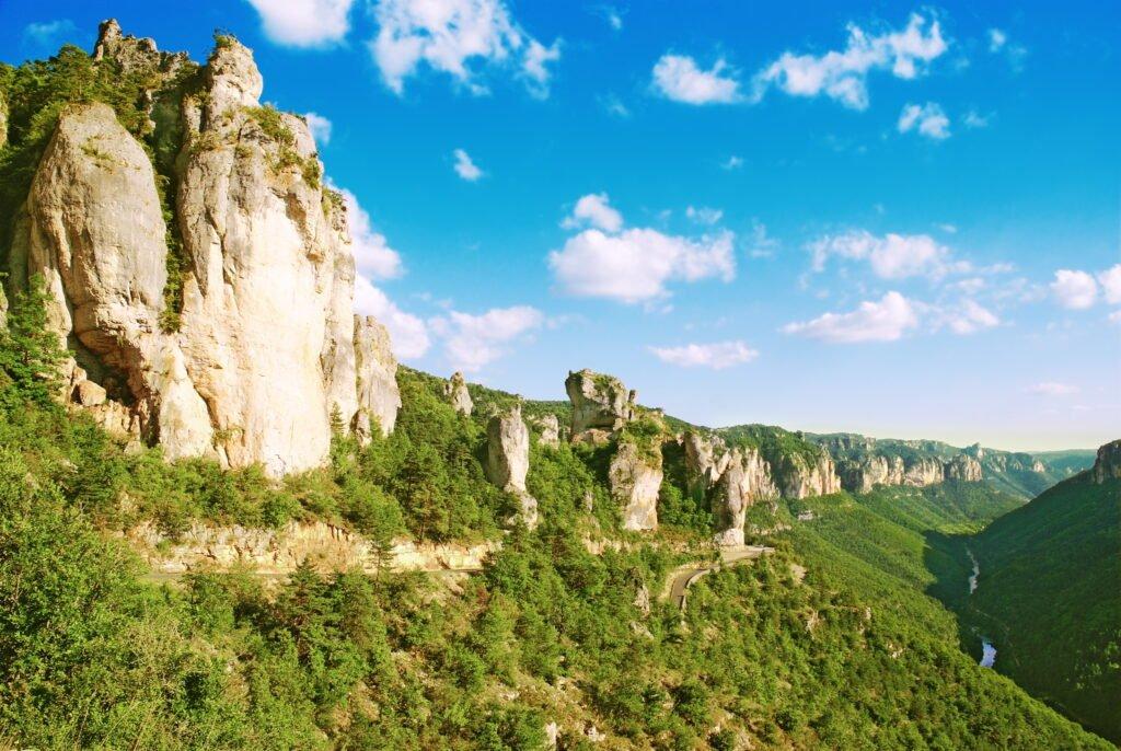 Los acantilados de Gorges du Tarn