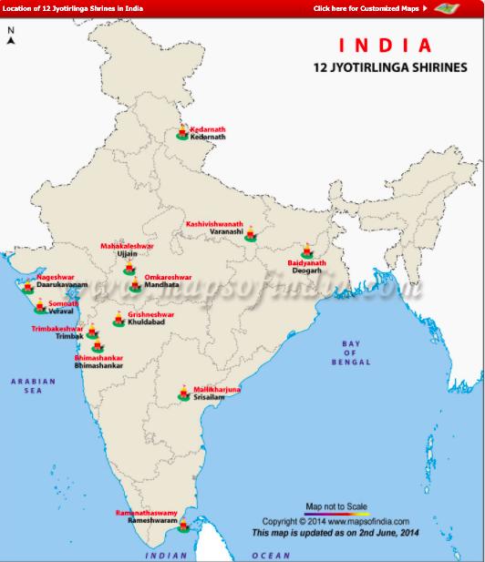 12 Mapa de Jyotirlinga