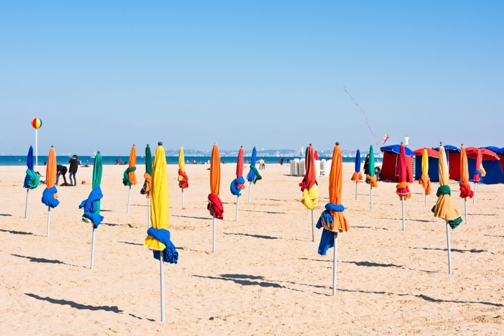 Playa de Deauville en Normandía