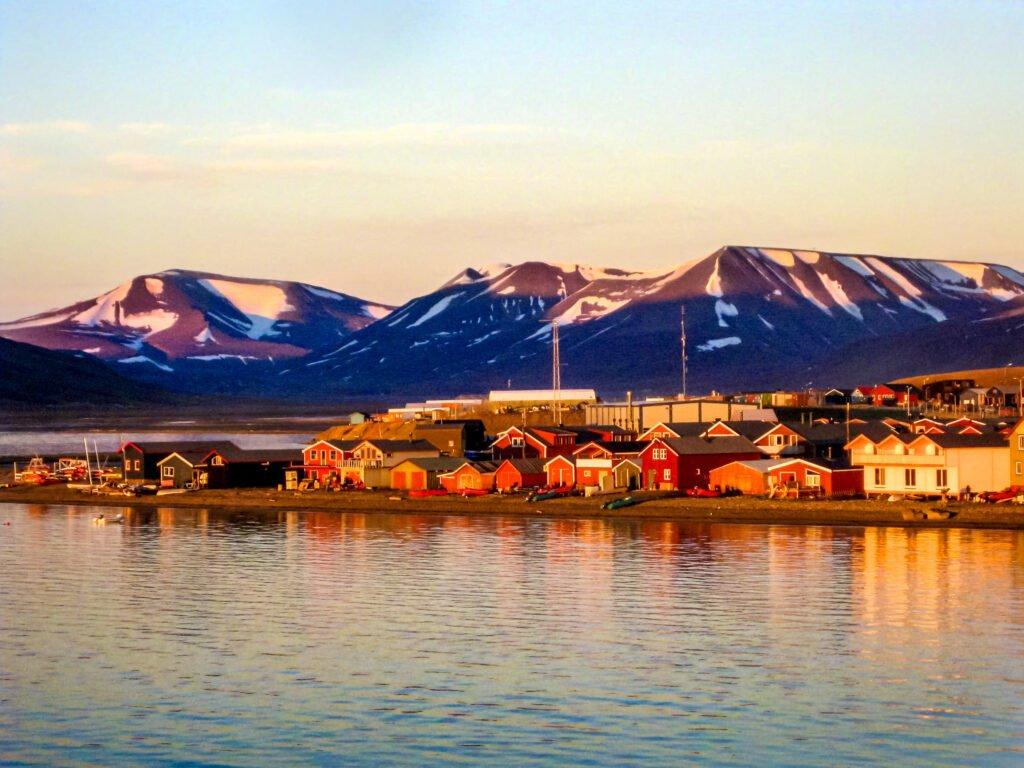 Puesta de sol en Svalbard