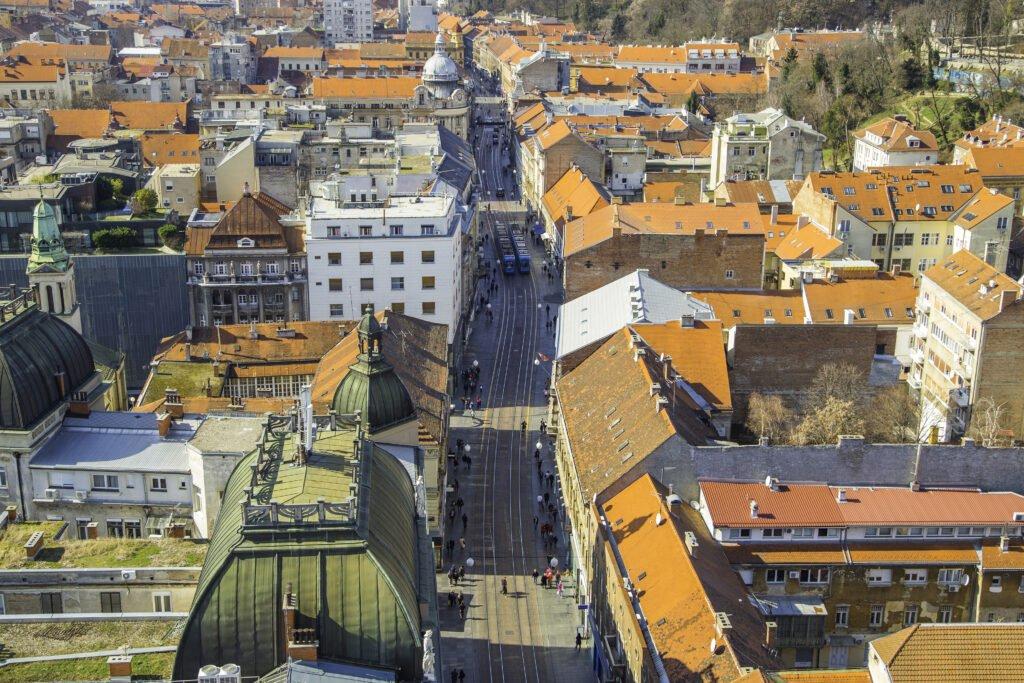 Rue Ilica en Zagreb