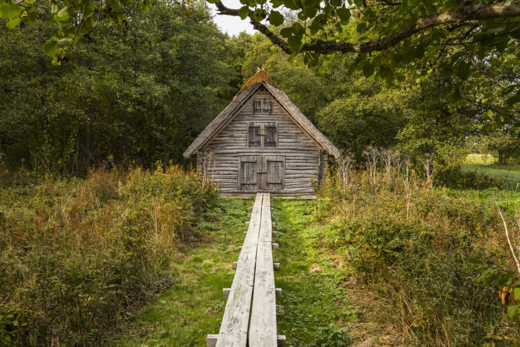 casa de madera en Matsalu