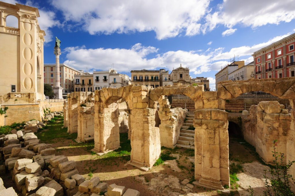 el anfiteatro romano de Lecce