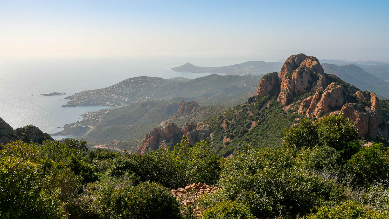 Vista desde Cap Roux en Saint Raphaël (Estérel Var)