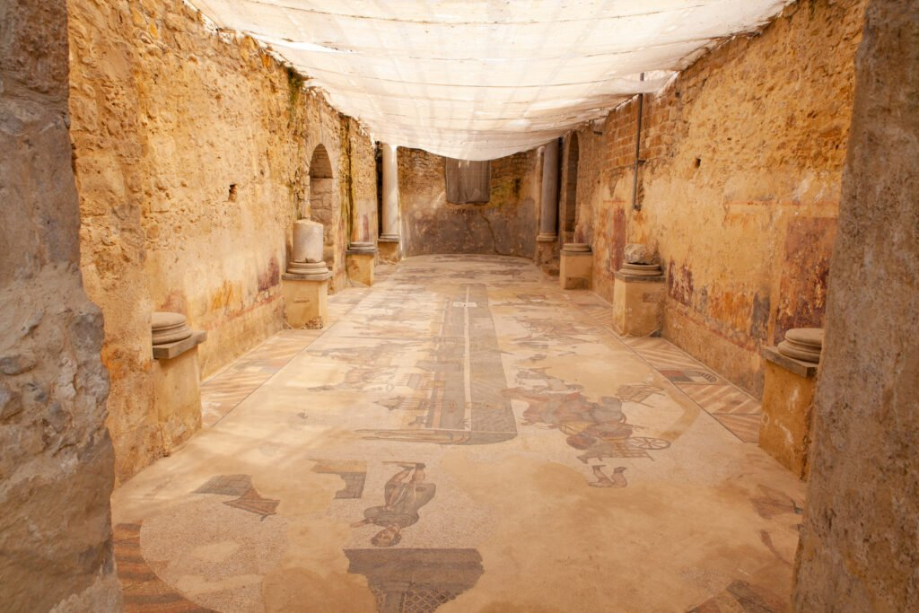 Masía casa romana en sicilia