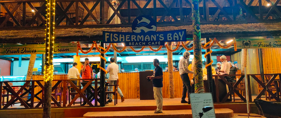 Fisherman's Bay Beach Café, Malpe